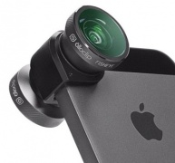 Линза Olloclip 4-in-1 Lens Space Grey/Black Clip для iPhone 5/5S (OCEU-IPH5-FW2M-GYB)