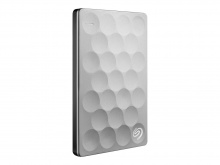 Внешний жесткий диск Seagate Backup Plus Ultra Slim 2 Tb, Platinum (STEH2000200)