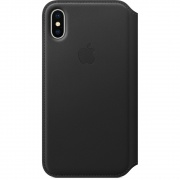 Чехол Apple iPhone X Leather Folio Black (MQRV2)