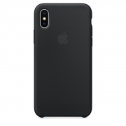 Чехол Apple iPhone X Silicone Case Black (MQT12)
