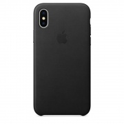Чехол Apple iPhone X Leather Case Black (MQTD2)