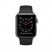 Смарт-часы Apple Watch Series 3 (GPS) 42 mm Space Gray Aluminum Case c Black Sport Band (MQL12)