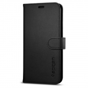 Чехол Spigen iPhone X Case Wallet S Black (057CS22176)