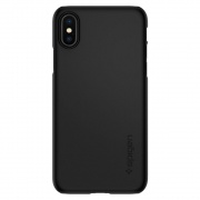 Чехол Spigen iPhone X Case Thin Fit Matte Black (057CS22108)
