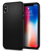 Чехол Spigen iPhone X Case Liquid Air Matte Black (057CS22123)