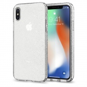 Чехол Spigen iPhone X Case Liquid Crystal Glitter (Crystal Quartz) (057CS22122)