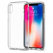 Чехол Spigen iPhone X Case Liquid Crystal (Crystal Clear) (057CS22118)
