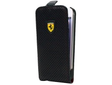 Чехол Ferrari Flip Type New Challenge Full Perforated Black для iPhone 5 от CG Mobile (FECHFPFLP5)