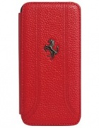 Чехол Ferrari Book Type Grain Leather Red для iPhone 5 от CG Mobile (FEFFFLBKP5RE)