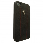 Чехол Ferrari Hard Case Modena Leather Black/Red with Metal Logo для iPhone 4/4S от CG Mobile (FEMO4MBLR)