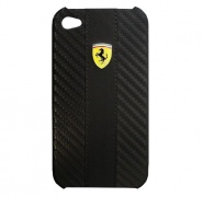 Чехол Ferrari Leather Hard Case Carbon Black для iPhone 4/4S от CG Mobile (FECHIP4G)