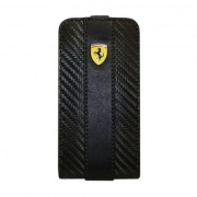 Чехол Ferrari Leather Case Flip Type Carbon Black для iPhone 4/4S от CG Mobile (FEFLIP4C)