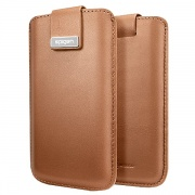 Чехол Crumena Leather Pouch Brown для iPhone 5 от SGP (SGP09514)