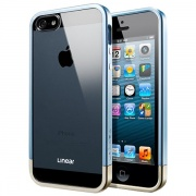 Чехол Case Linear Metal Crystal Metal Blue для iPhone 5 от SGP (SGP10043)