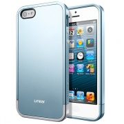 Чехол Case Linear Metal Series Metal Blue для iPhone 5 от SGP (SGP10039)