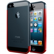 Чехол Case Linear EX Slim Metal Series Metal Red для iPhone 5 от SGP (SGP10084)