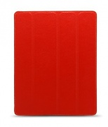Чехол Leather Case Slimme Cover Type Red для iPad 2/The New iPad/iPad 4 от Melkco (APNIPALCSC1RDLC)