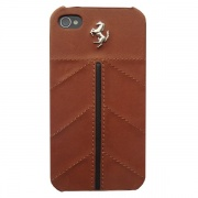 Чехол Ferrari Leather Hard Case California Camel для iPhone 4/4S от CG Mobile (FECFIP4KA)