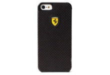 Чехол Ferrari Hard Case Challenge Perforated Collection Black для iPhone 5 от CG Mobile (FECHFPHCP5)